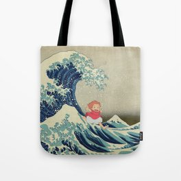 Ponyo and the Great Wave Tote Bag