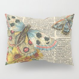 Butterflies on Dictionary Page Pillow Sham