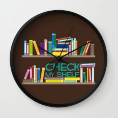 Check My Shelf Wall Clock