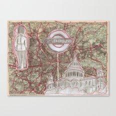 London Sewn Drawing Canvas Print