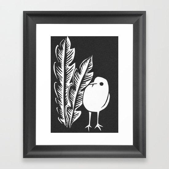 Graphic Bird Framed Art Print