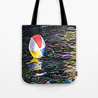 pool Tote Bags featuring Pool by Renee Trudell