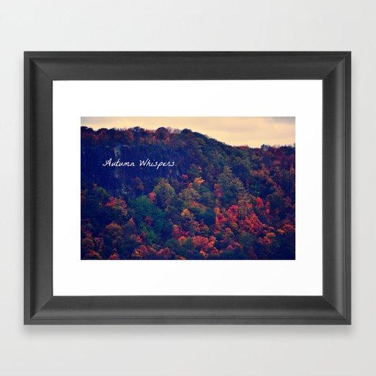 Autumn Whispers Framed Art Print