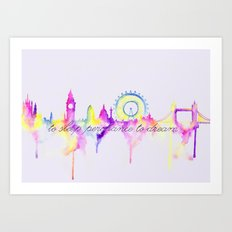 London skyline Shakespeare Art Print