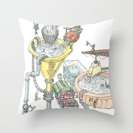 The Wonderful World of Water! Throw Pillow