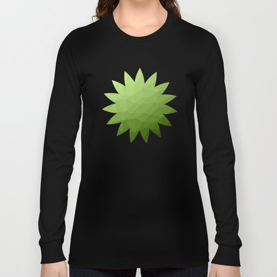 Greenery ombre gradient geometric mesh Long Sleeve T-shirt