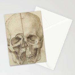 Skull - Leonardo Da Vinci Stationery Cards