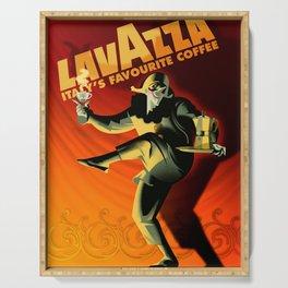 "Vintage Lavazza Italian Pagliacci ""Clown"" Coffee Lithograph Advertisement Poster Serving Tray"