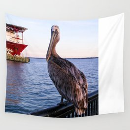 Pelican at Port Wall Tapestry
