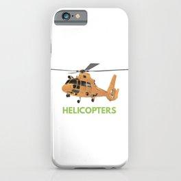 Orange European Helicopter iPhone Case