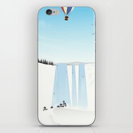 Fly away on a fair wind to anywhere iPhone Skin