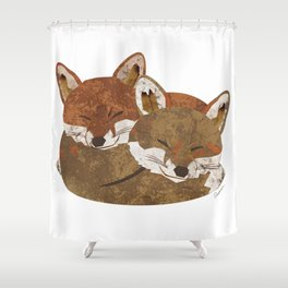 Shelter (Stacked Foxes) Shower Curtain
