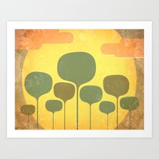 In the Middle of Dessert Art Print