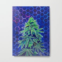 Purple Kush Metal Print