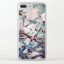 Abstract Stone Chaos Clear iPhone Case