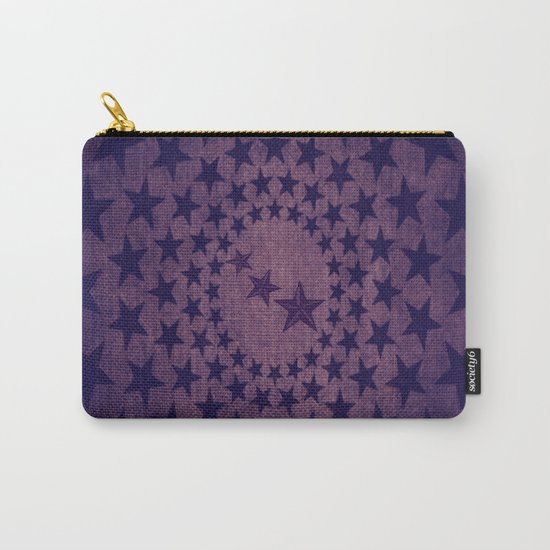 Purple stars decorative pattern Carry-All Pouch