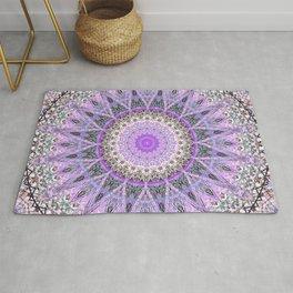 Lovely Lavender Mandala Design Rug