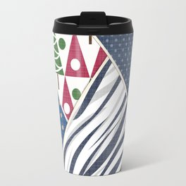 Abstract pattern .Textile patchwork patchwork . Travel Mug