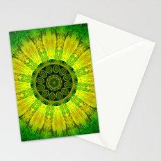 Lemon Lime Mandala  Stationery Cards
