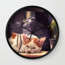 Peaceful Slumber Wall Clock