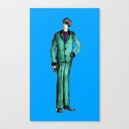 Beetles Green Dandy Canvas Print