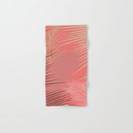 Palms Shadow on Living Coral Hand & Bath Towel