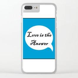 Love B Clear iPhone Case