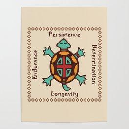 Turtle animal spirit Poster