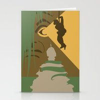 indiana jones Stationery Cards featuring The Indiana Jones Adventure by Minimalist Magic - Art by Tony Sherg