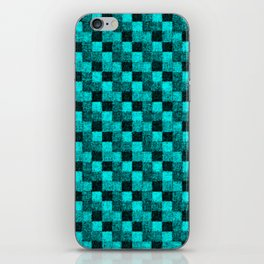 Rustic Turquoise Teal Patchwork iPhone Skin