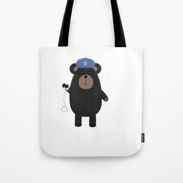 Police Black Bear and Tote Bag