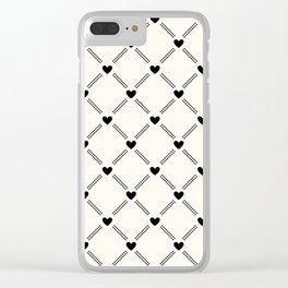 Stitched Hearts Clear iPhone Case