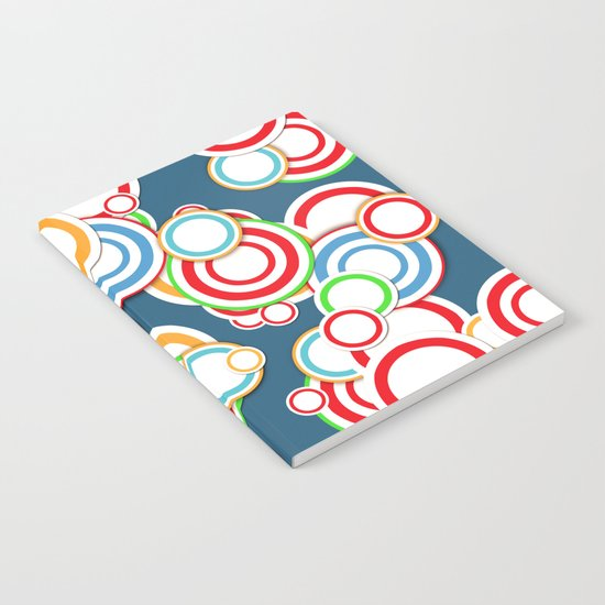 Pattern circle top Notebook