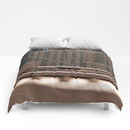 Geometric City Comforters