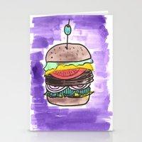 hamburger Stationery Cards featuring hamburger by yayanastasia