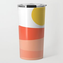 Abstract Landscape 09 Red Travel Mug