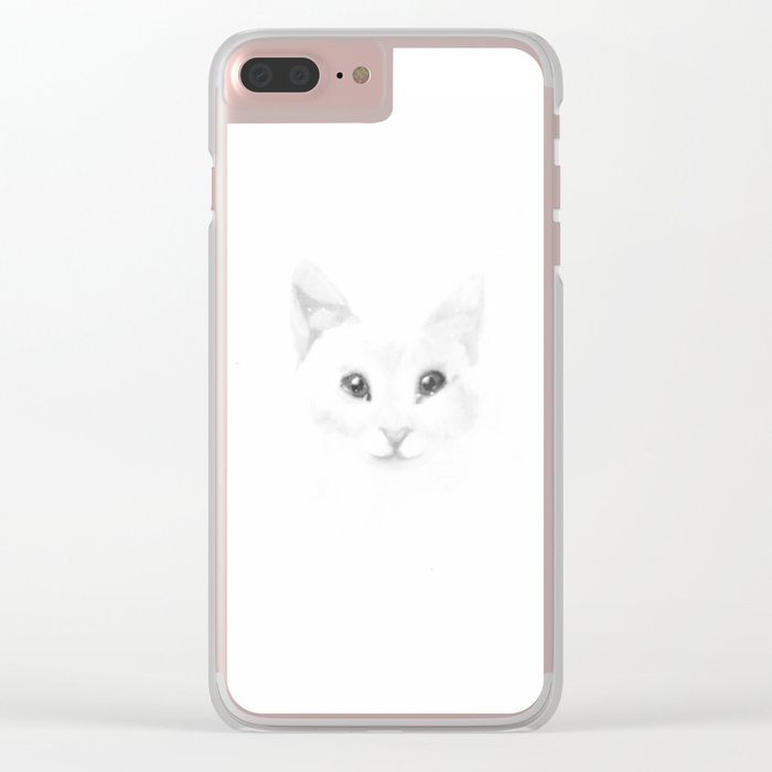 Winter cat Clear iPhone Case