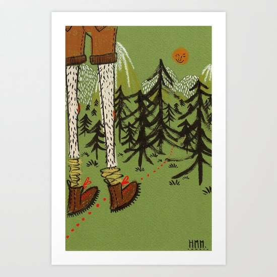 Wilderness walker Art Print