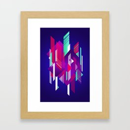 Shattered and Stained Framed Art Print