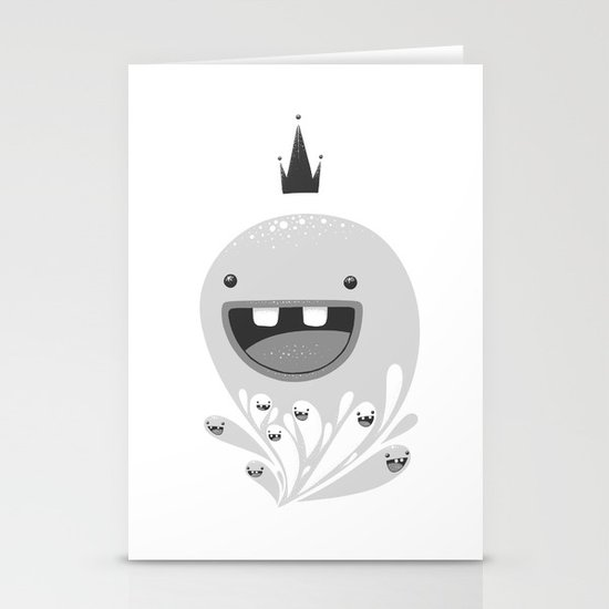 King Lip of the Squiggles Stationery Cards