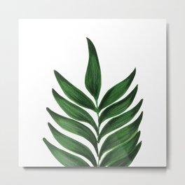 GREEN L E A F Metal Print