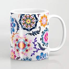 Happy Color Suzani Inspired Pattern Coffee Mug