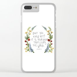 For Maddy.  Clear iPhone Case