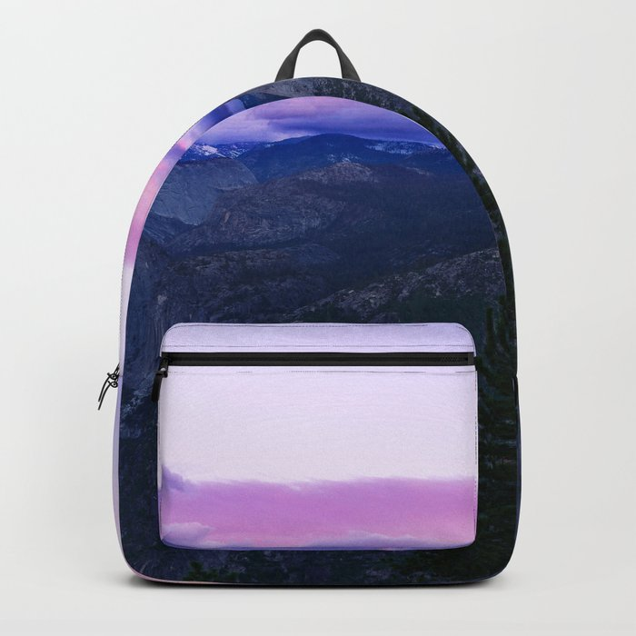 The Mountains and Purple Clouds Backpack