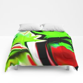 The Garden Green and Red Comforters