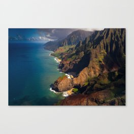 Na Pali Coast, Kaua'i, Hawai'i - Full Image Canvas Print