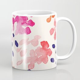 Flower abstract, watercolor floral pattern Coffee Mug