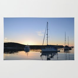 Tranquil Moorings In The Isles Of Scilly. Rug