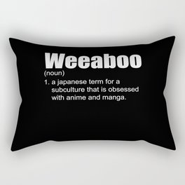 Weeaboo Otaku Gifts Anime Manga Gifts Ecchi Otaku Style Japanese Rectangular Pillow