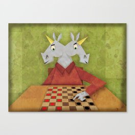 Two Headed Unicorn Canvas Print